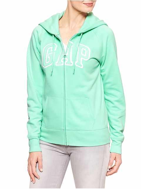 Factory raglan arch logo zip hoodie