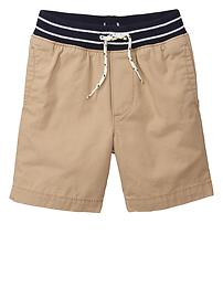 Contrast pull-on shorts