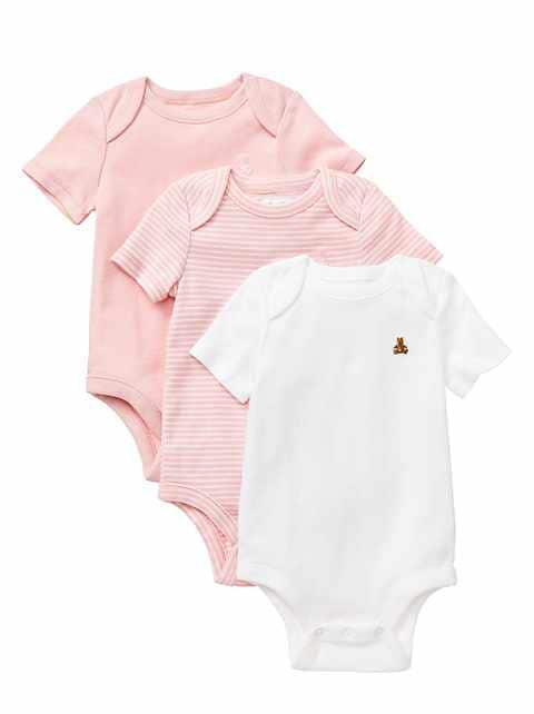 Short-sleeve bodysuit (3-pack)