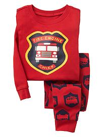 Firetruck sleep set