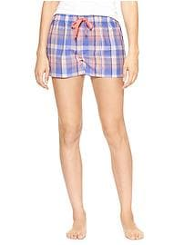 Print poplin shorts