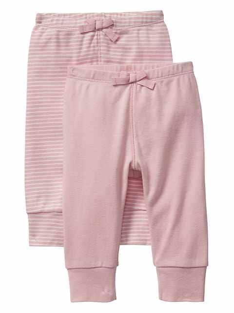 Baby Bow pants (2-pack)