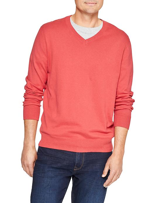 Gap Factory Mens V-Neck Sweater (Faded Red)