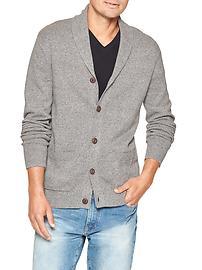 Marled shawl cardigan