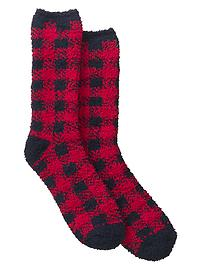Cozy plaid socks