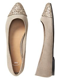 Embellished pointy flats