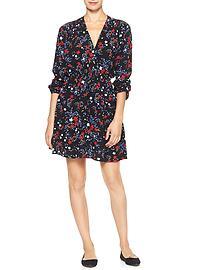 Print drop-waist dress