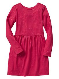 Shirred sparkle dress