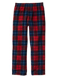 Plaid microfleece PJ pants