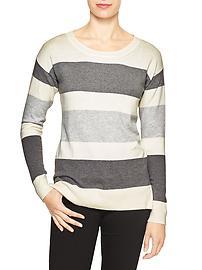 Stripe drop-shoulder sweater