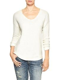 Textured drop-shoulder sweater