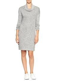Softspun knit cowlneck dress