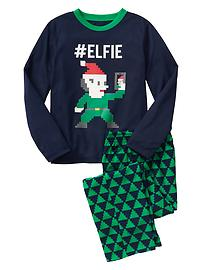 Elf fleece sleep set