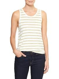 Luxe metallic stripe tank