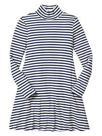 Stripe mockneck dress