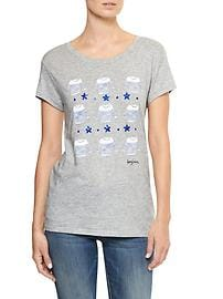 Embellished graphic tee