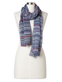 Print cozy scarf