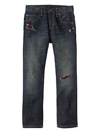 1969 rip & repair slim straight fit jeans