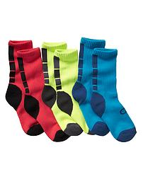 GapFit colorblock geo socks (3-pack)