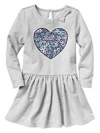 Shirred heart dress