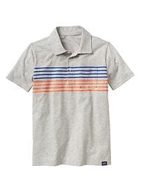 Chest-stripe pocket polo