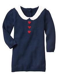 Intarsia heart sweater dress