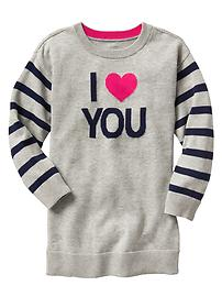 Intarsia love sweater