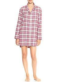 Print flannel nightshirt