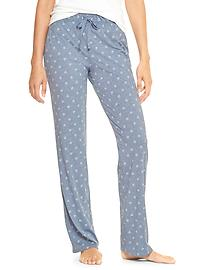 Print jersey sleep pants