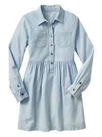 Chambray two-pocket shirtdress