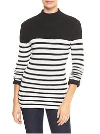 Stripe turtleneck sweater