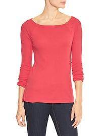 Favorite button boatneck tee