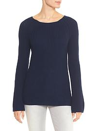 Raglan bell-sleeve sweater