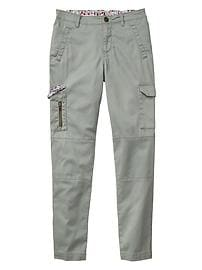 Skinny fit cargo pants