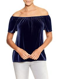 Velvet off-shoulder top