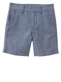 Oxford flat front shorts