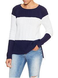 Textured raglan sweater