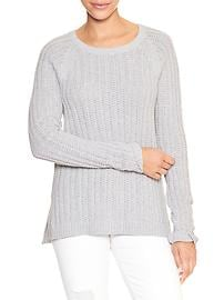 Textured raglan sweater