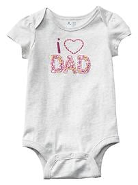 Embroidered parent love bodysuit