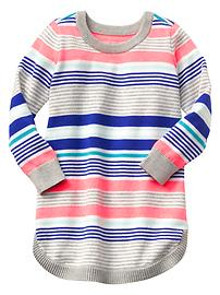 Multi-stripe sweater dress
