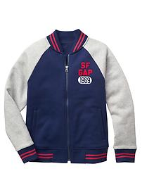 Colorblock varsity jacket