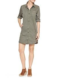 Twill shirtdress