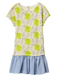Gap &#124 Disney Belle print double-layer dress