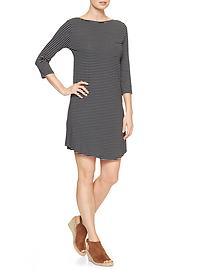 Three-quarter sleeve boatneck dress