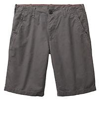 Lived-in flat front shorts