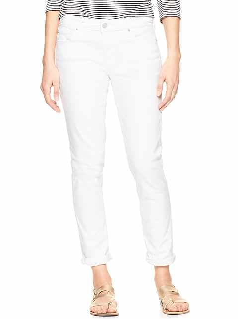 Mid Rise Cropped Girlfriend Jeans