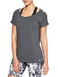 GapFit lattice-shoulder tee