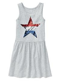 Sequin star tank dress