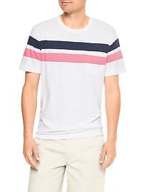Lived-in chest-stripe pocket tee