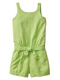 Linen-cotton romper